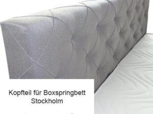 Kopfteil für Boxspringbett Stockholm